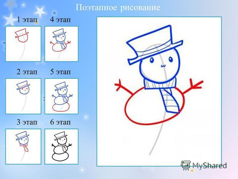 1 этап 2 этап 3 этап 4 этап 5 этап 6 этап Поэтапное рисование