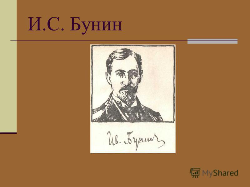 И.С. Бунин