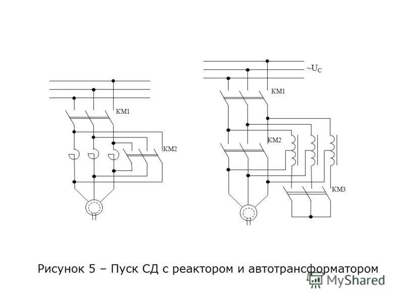 Рисунок 5 – Пуск СД с реактором и автотрансформатором