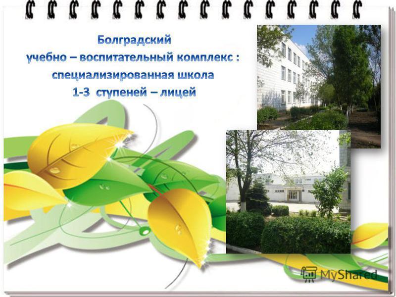 Болградский учебно – воспитательный комплекс : специализированная школа 1-3 ступеней – лицей