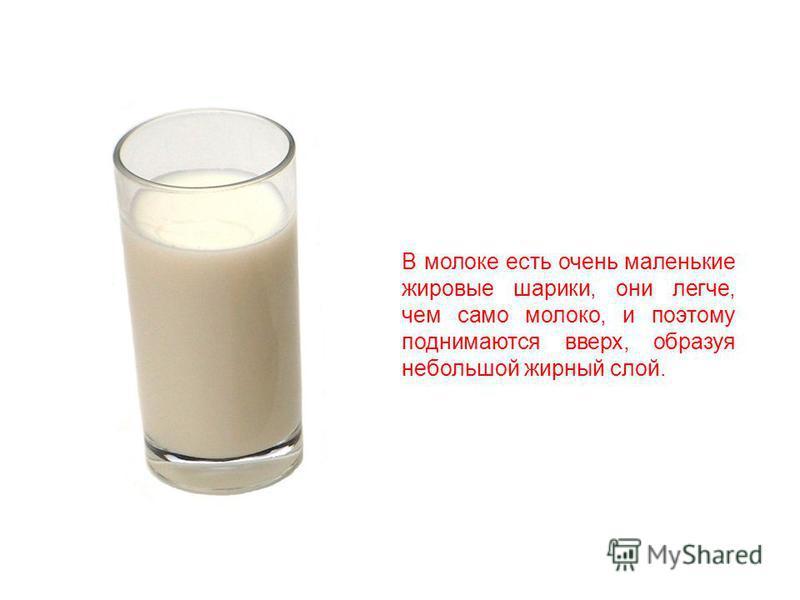 Из молока также делают сметану. Для этого сначала дают молоку немного постоять.
