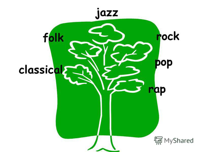 classical folk jazz pop rock rap