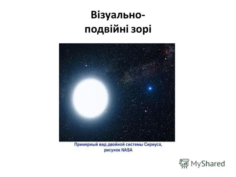 Візуально- подвійні зорі
