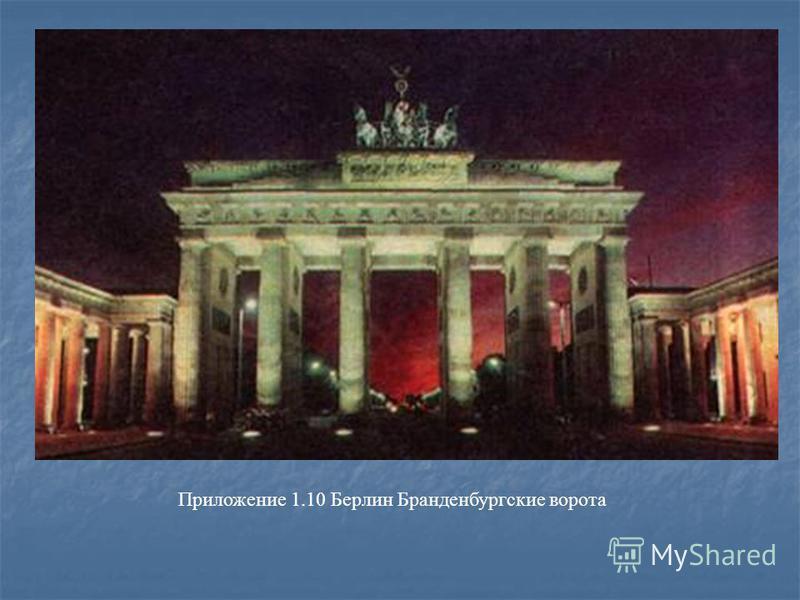 Приложение 1.10 Берлин Бранденбургские ворота