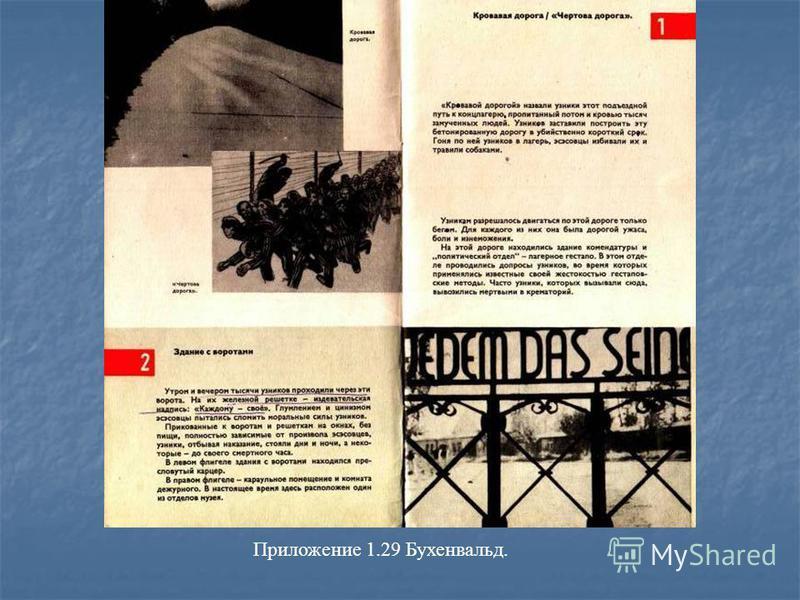 Приложение 1.29 Бухенвальд.