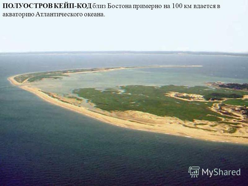ПОЛУОСТРОВ КЕЙП-КОД близ Бостона примерно на 100 км вдается в акваторию Атлантического океана.