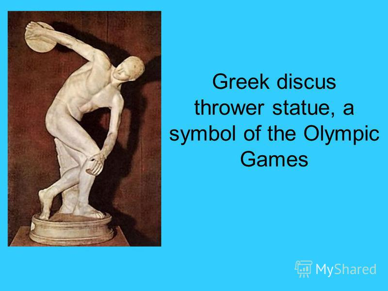 Greek discus thrower statue, a symbol of the Olympic Games