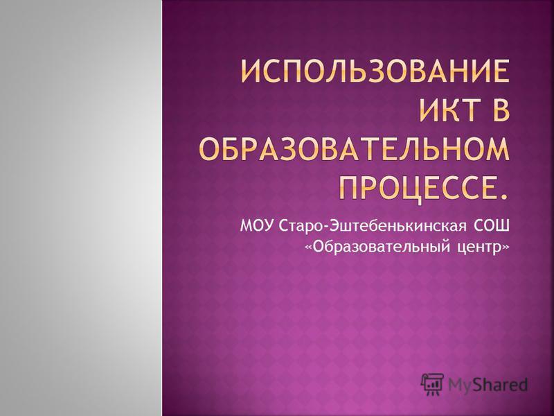 МОУ Старо-Эштебенькинская СОШ «Образовательный центр»