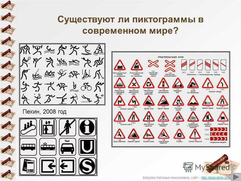 Существуют ли пиктограммы в современном мире? Пекин, 2008 год