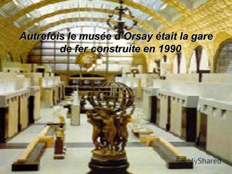 Le musée d Orsay occupe la place préstigi euse au contraire du Louvre.