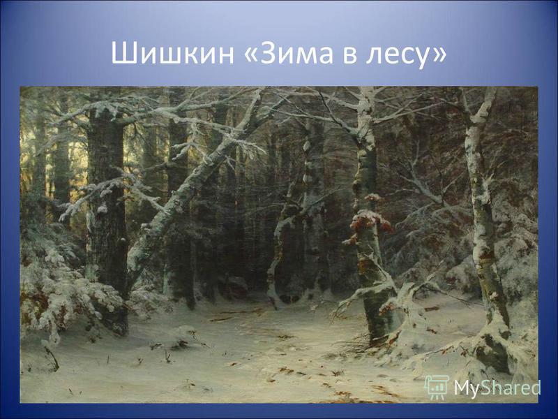 Зима. Мохнатый лес. Плывут седые облака. Снег падает, кружится. Сосна в белой косынке. У ёлки снежное пальтишко. Берёза в серебре.