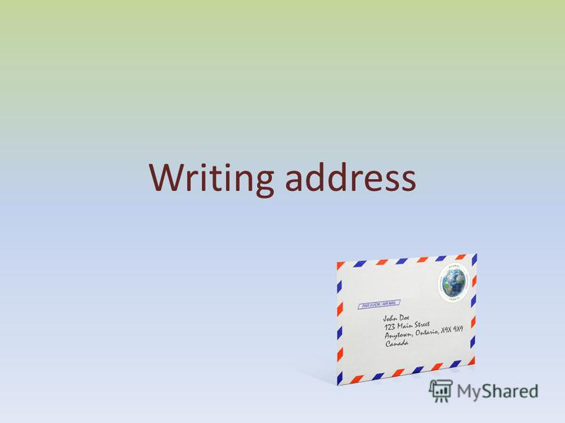Writing address