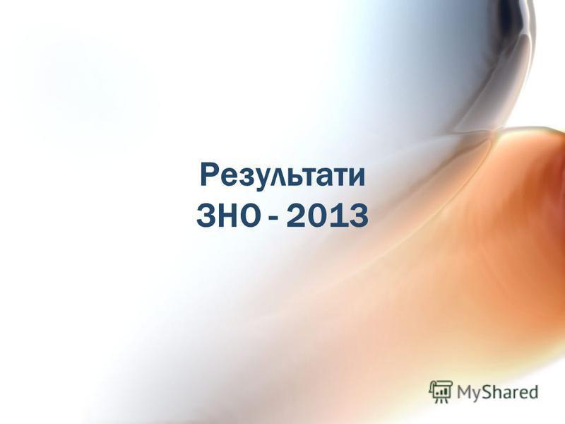 Результати ЗНО - 2013