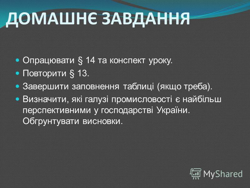 ПЕРЕВІР СЕБЕ Використовуючи карти географічного атласу України для 9 класу заповніть таблицю