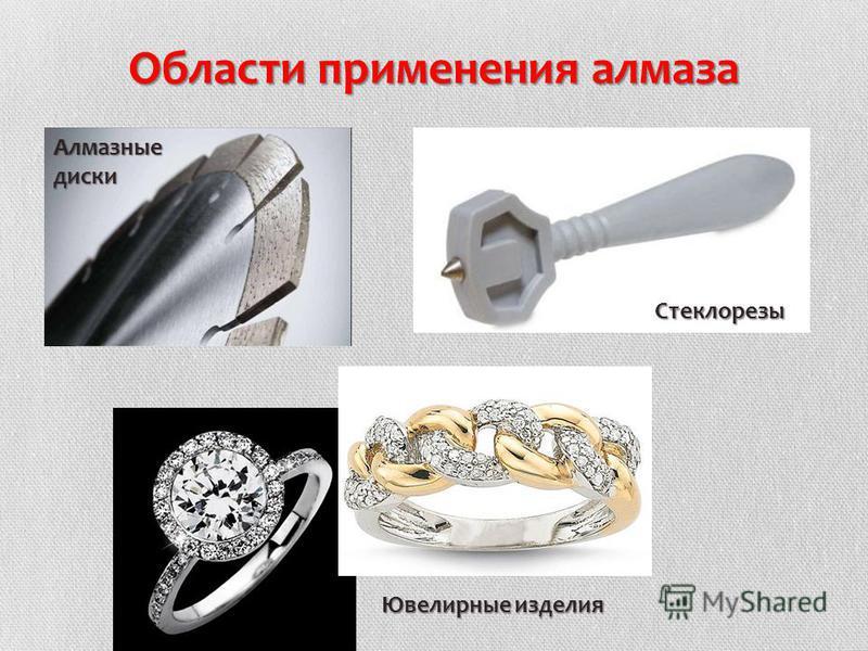 Области применения алмаза Стеклорезы Алмазныедиски Ювелирные изделия