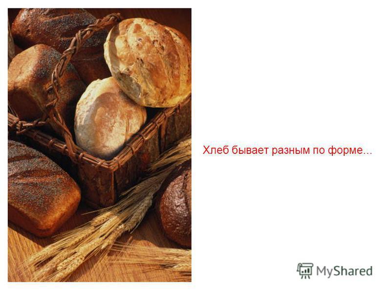 Всё это называют одним знакомым и понятным словом - хлеб.