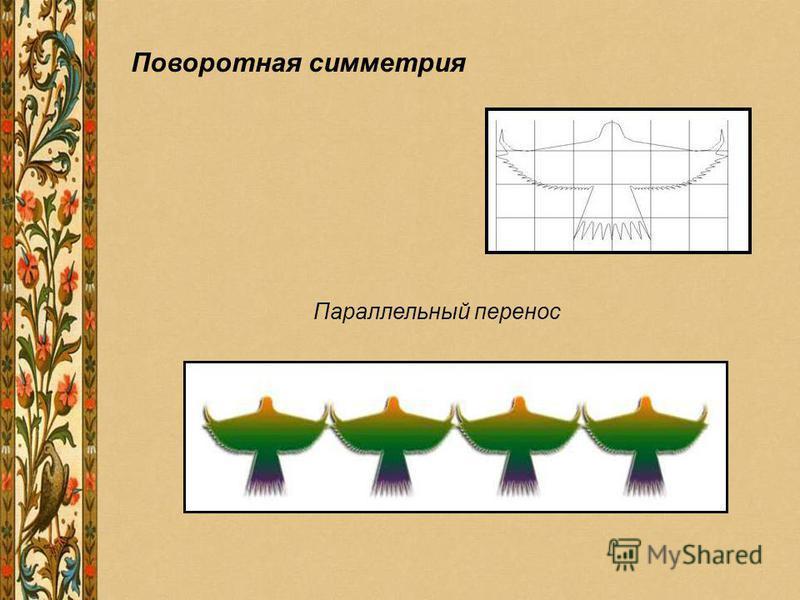 Поворотная симметрия Параллельный перенос