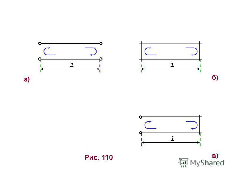 б)б) Рис. 110 а)а) l l l в)в)