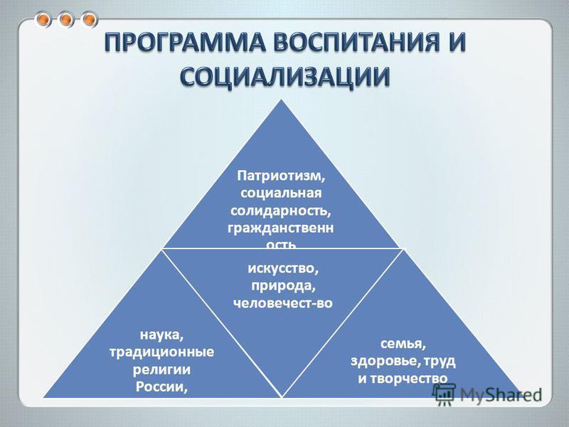 Патриотизм, социальная солидарность, гражданственность наука, традиционные религии России, искусство, природа, человечест-во семья, здоровье, труд и творчество