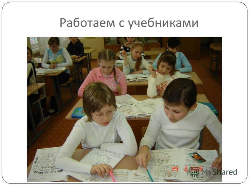 Работаем с учебниками
