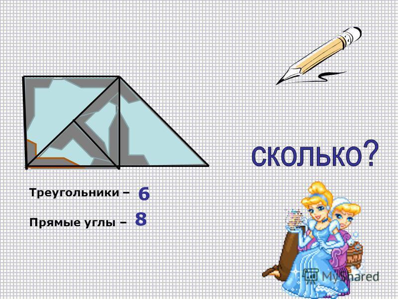 Треугольники – Прямые углы – 6 8