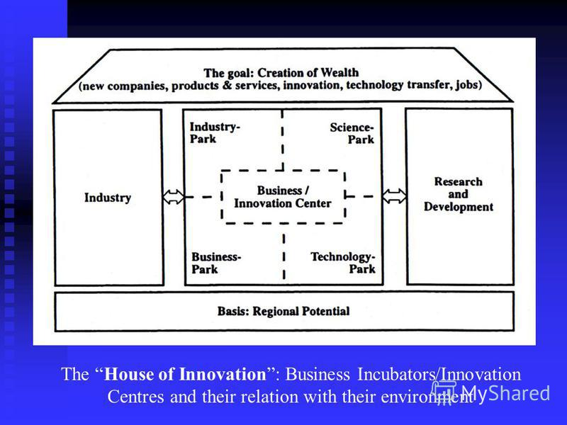 The House of Innovation: Business Incubators/Innovation Centres and their relation with their environment