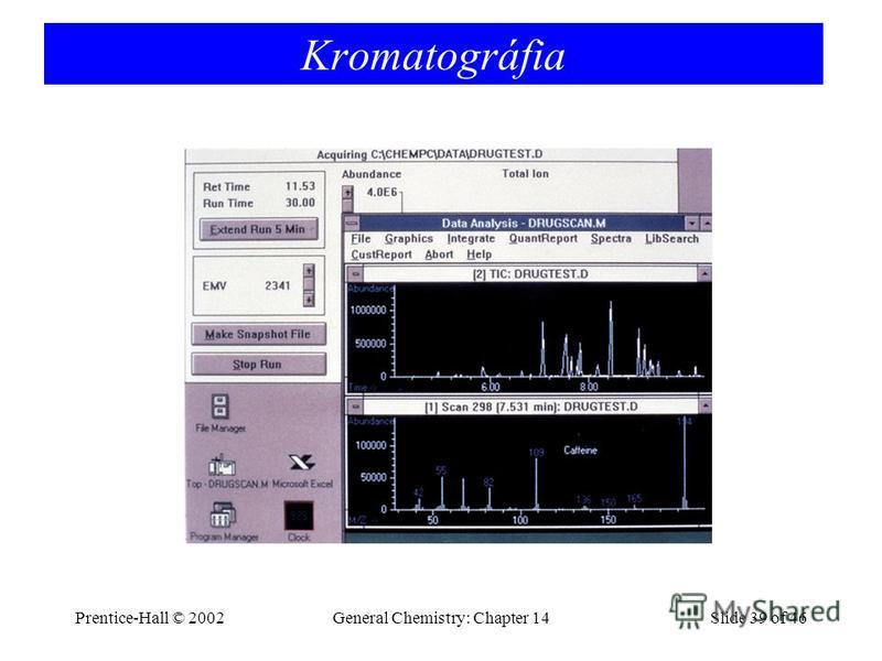 Prentice-Hall © 2002General Chemistry: Chapter 14Slide 39 of 46 Kromatográfia