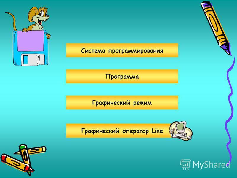 Система программирования Графический режим Графический оператор Line Программа