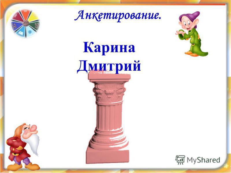 Анкетирование. Карина Дмитрий