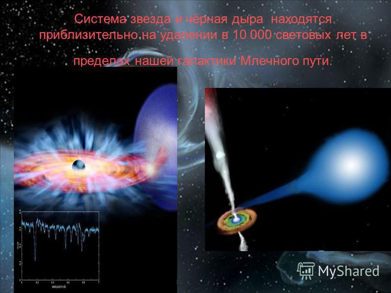 Система звезда и чёрная дыра находятся приблизительно на удалении в 10 000 световых лет в пределах нашей галактики Млечного пути.