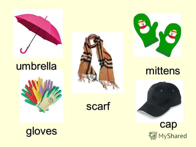 scarf umbrella gloves cap mittens