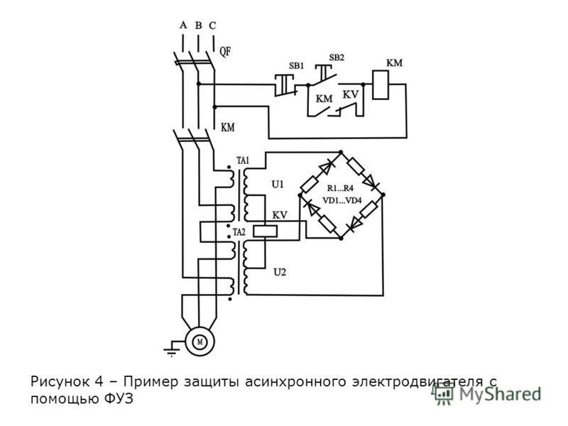 Рисунок 4 – Пример защиты асинхронного электродвигателя с помощью ФУЗ