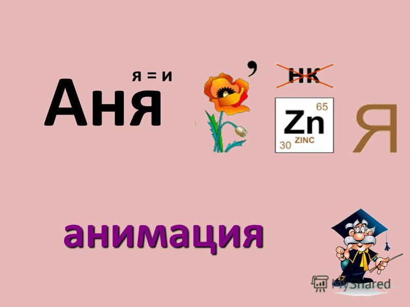 Аня я = и анимация