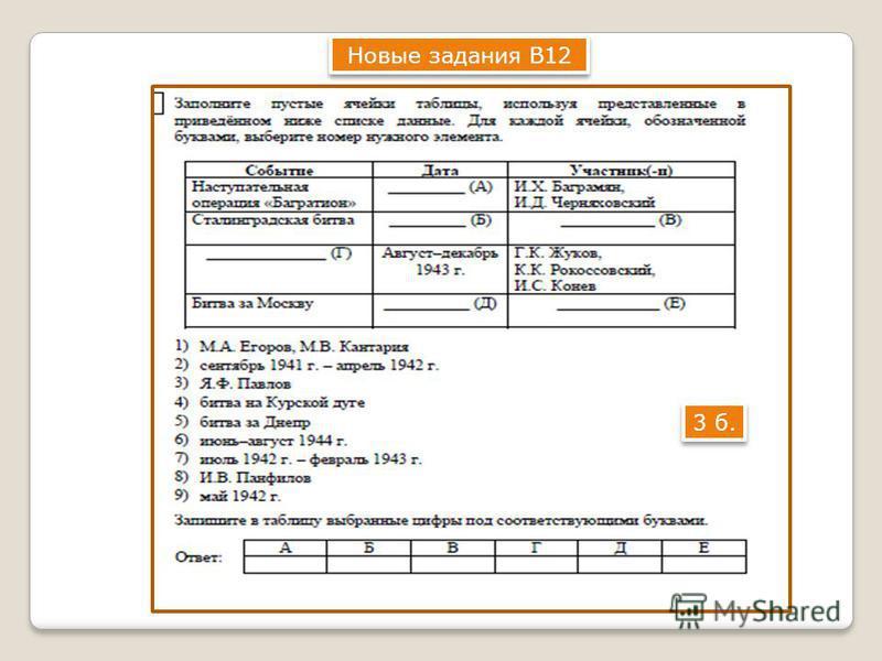 Новые задания В12 3 б.