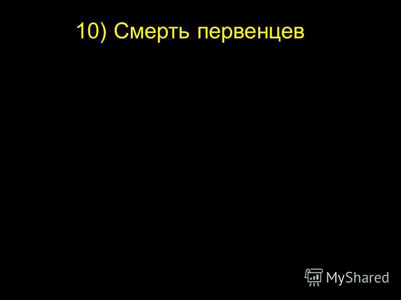 10) Смерть первенцев