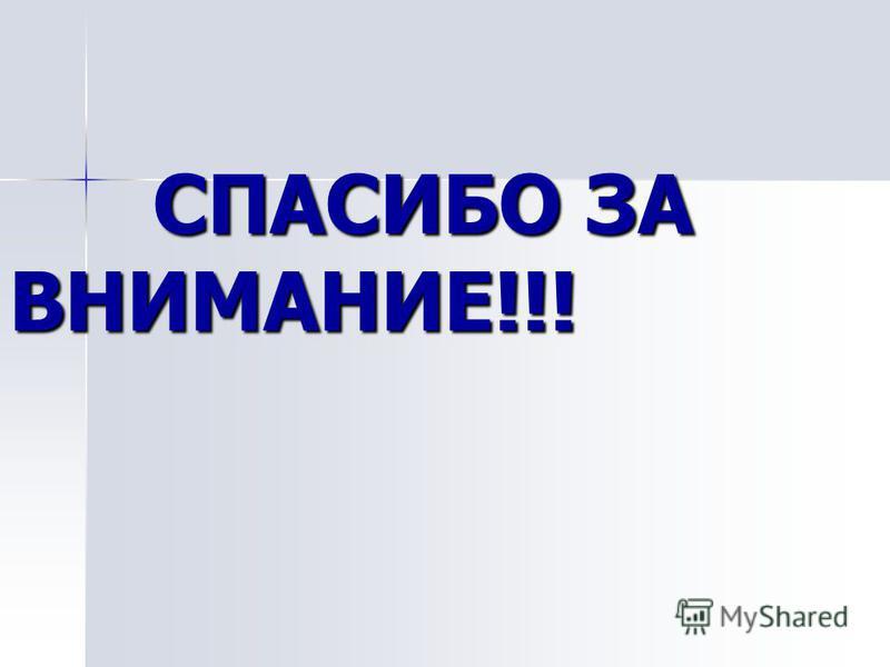 СПАСИБО ЗА ВНИМАНИЕ!!! СПАСИБО ЗА ВНИМАНИЕ!!!