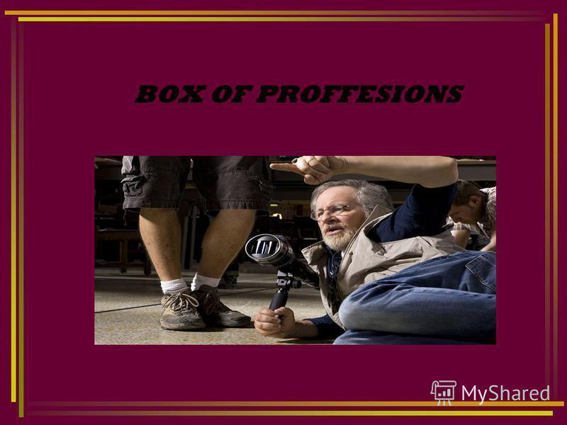 BOX OF PROFFESIONS