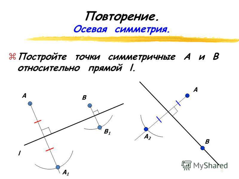 Ответьте на вопросы: zВzВ какую фигуру отобразился треугольник? zВzВ какую фигуру отобразилась трапеция? Сохранилось ли расстояние между точками? 5