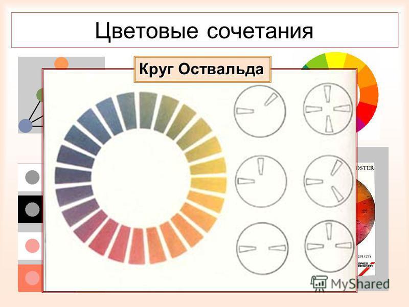 Цветовые сочетания Круг Оствальда