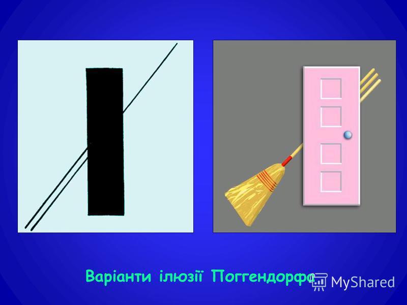 Варіанти ілюзії Поггендорфа