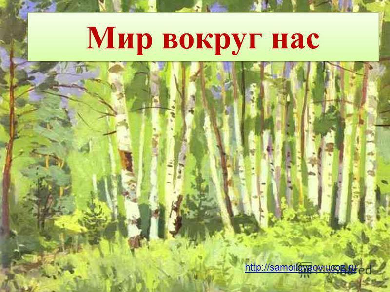 Мир вокруг нас http://samoilovaov.ucoz.ru
