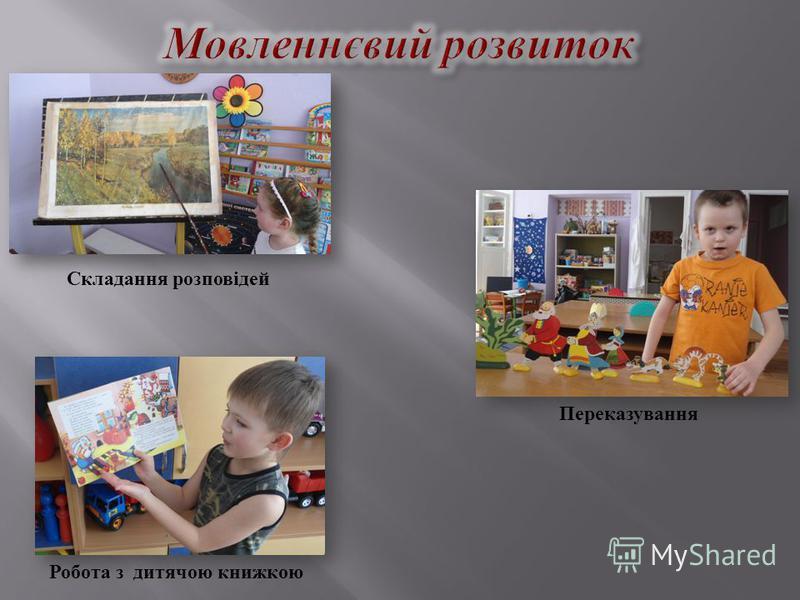Складання розповідей Переказування Робота з дитячою книжкою