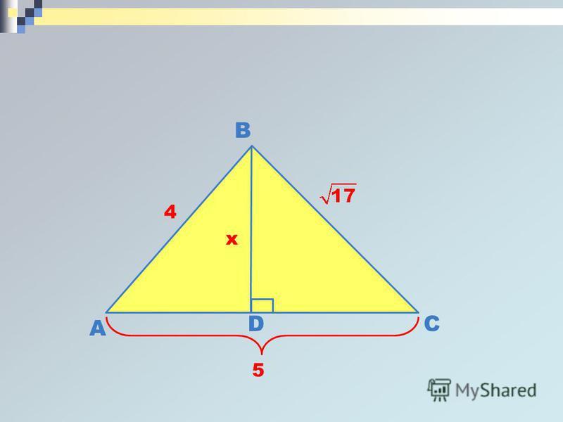 A B C 4 5 D x