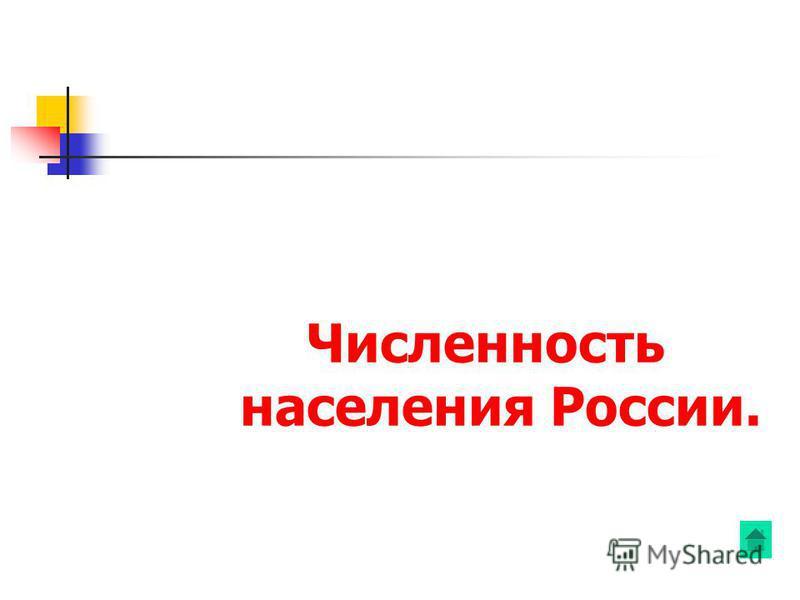 Численность населения России.
