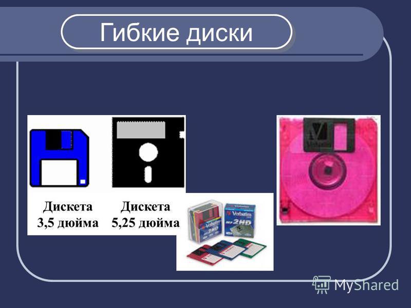 Гибкие диски Дискета 3,5 дюйма Дискета 5,25 дюйма