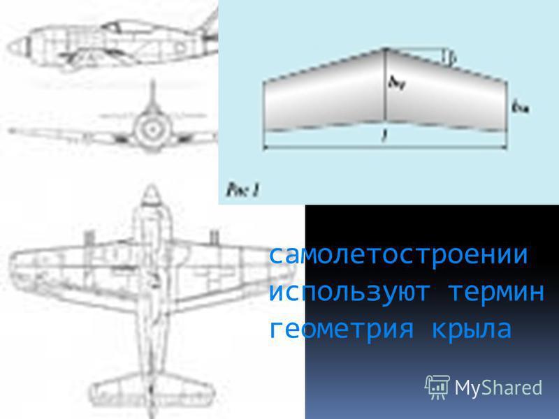 самолетостроении используют термин геометрия крыла