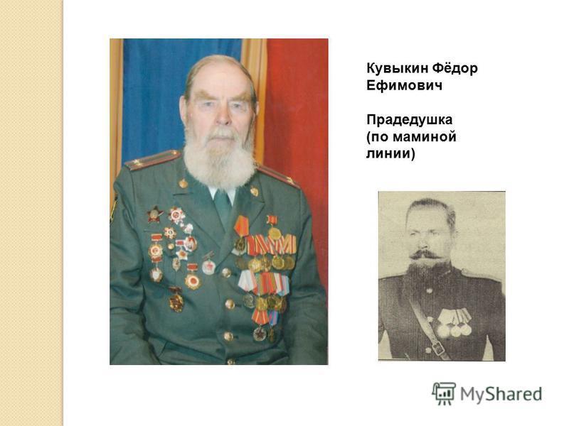 Кувыкин Фёдор Ефимович Прадедушка (по маминой линии)