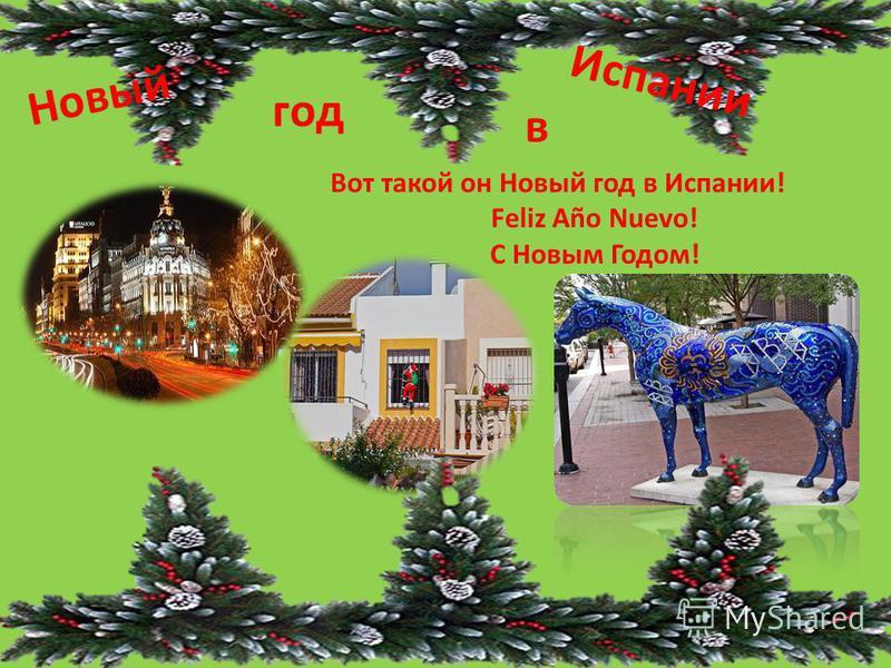 Новый год в Испании Вот такой он Новый год в Испании! Feliz Año Nuevo! С Новым Годом!