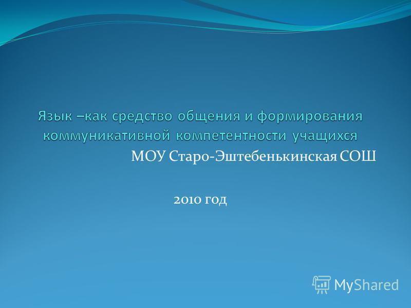МОУ Старо-Эштебенькинская СОШ 2010 год