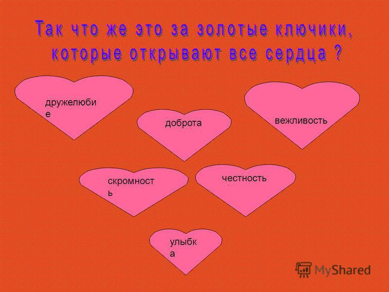 улыбка доброта скромность честность дружелюбие вежливость